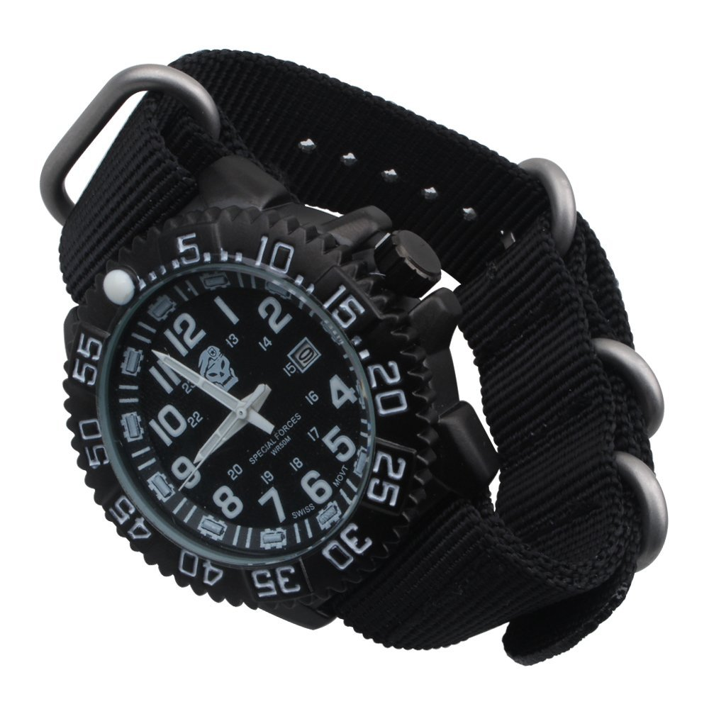 Outdoo Survival Watch Sealed box Bracelet Waterproof Watches For Men Women Camping Hiking Military Tactical Gear