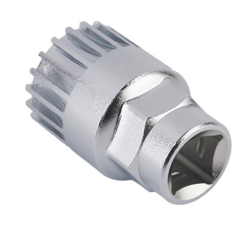 New Cycle Cycling Mountain Bicycle Sealed Bottom Bracket Spindle Remover Repair Silver Steel Tool Sports Free
