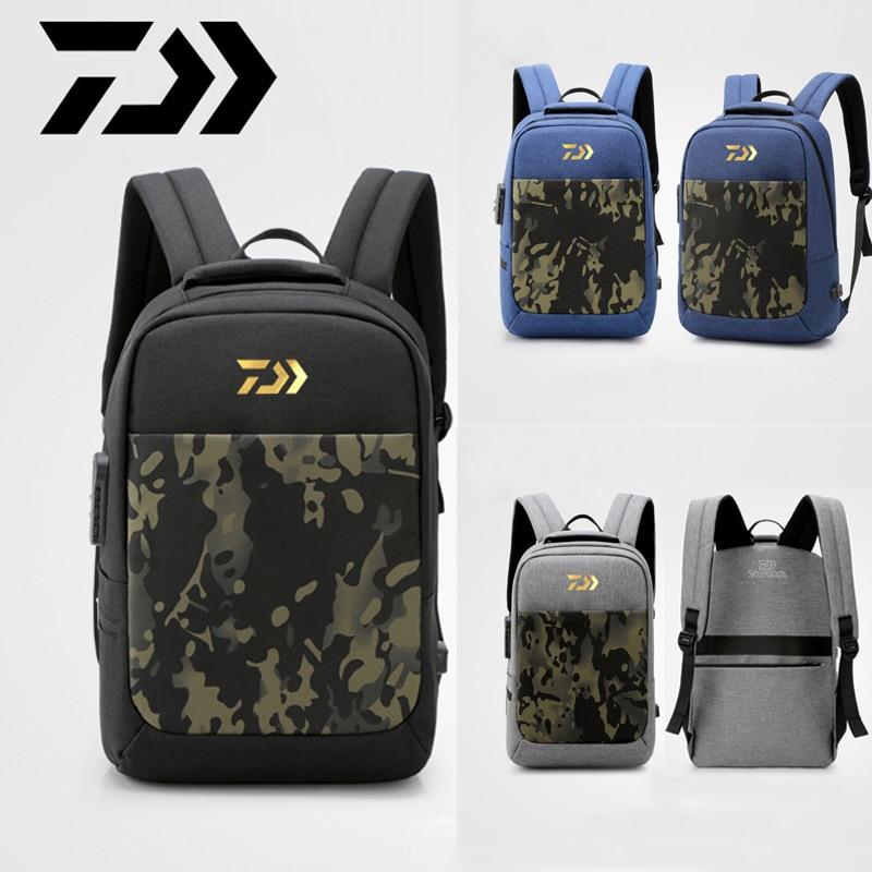 2019 Daiwa Fishing Backpack Waterproof Fishing Lures Reel Bag Adjustable Straps Fish Tackle Storage Bag Fishing Tackle Boxes Bag