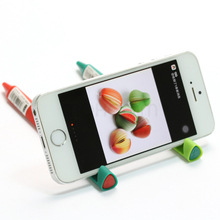 Mohamm Novelty Cute Kawaii Phone Holder Writing Creative Gel Ink Pen Office School Supplies Stationery 9 Colors 0.5mm Black Ink