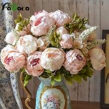 Umiwe 13 головок Европейский Стиль Поддельные Искусственный Пион Шелковый декоративная сторона цветы для дома отель свадебные офисные садовый декор