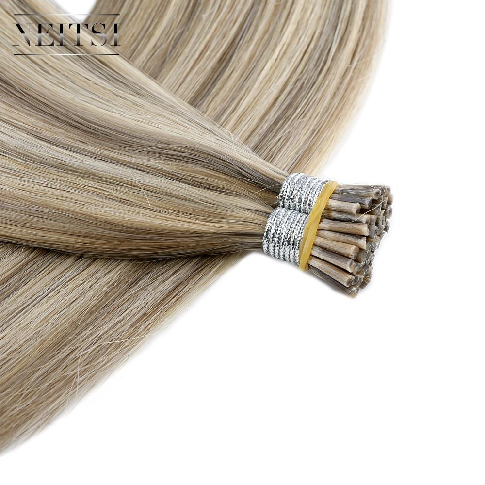 Neitsi Braziliaanse Straight Human Fusion Haar I Tip Stick Keratin - Mensenhaar (voor wit) - Foto 4