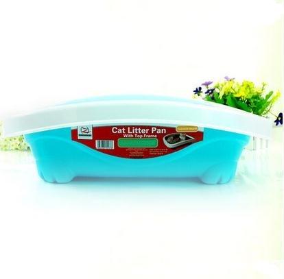 Роскошные кошка чаши полузакрытый бассейна кошачьих туалетов домашних животных кошачий Туалет Размеры: 49*40*15 см