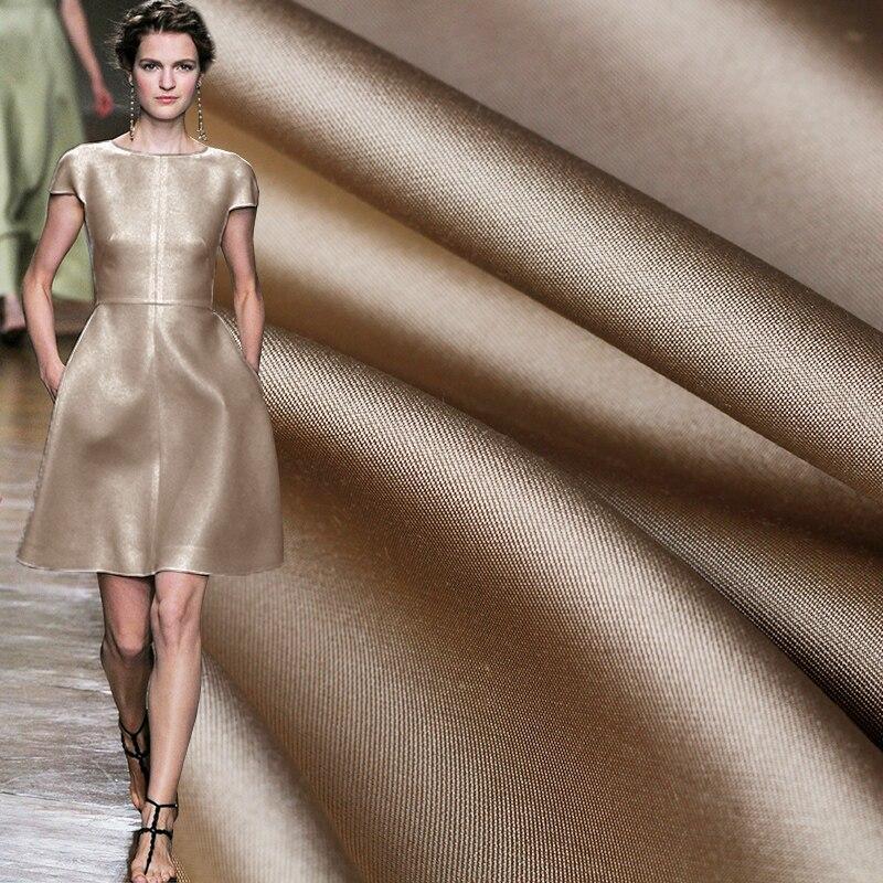 Pearlsilk 38 Momme Thicken Silk Wool Skeleton Light Tan Garment Materials Spring Jacket Dress DIY Clothes Fabrics Freeshipping