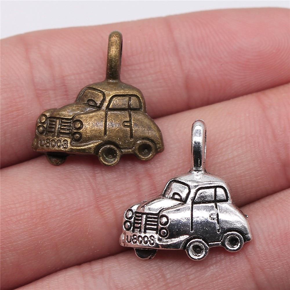 10PCS Antique Silver 3D Tiny Elephant Charm 12x10mm
