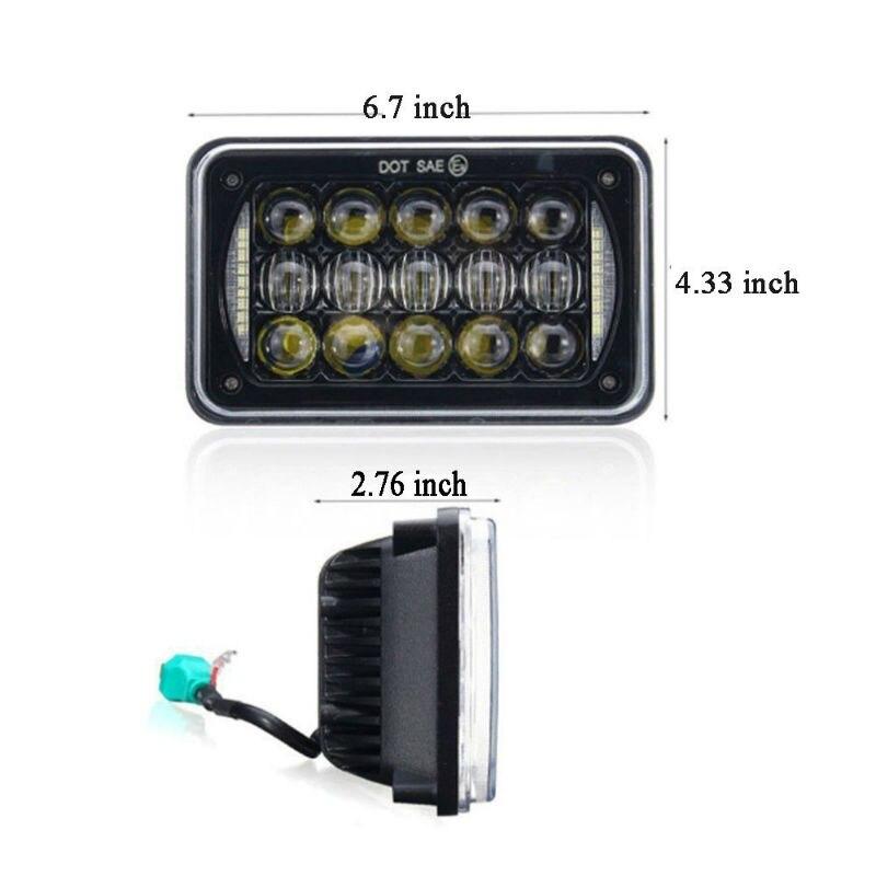 5D Lens 60W 4x6 Inch LED Headlights DRL for H4651 H4652 H4656 H4666 H6545 Peterbil Kenworth