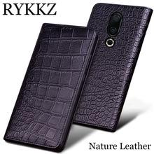 RYKKZ For Meizu 16th Plus Case Cover Silicon Tpu Flip Genuine Leather Shell Luxury