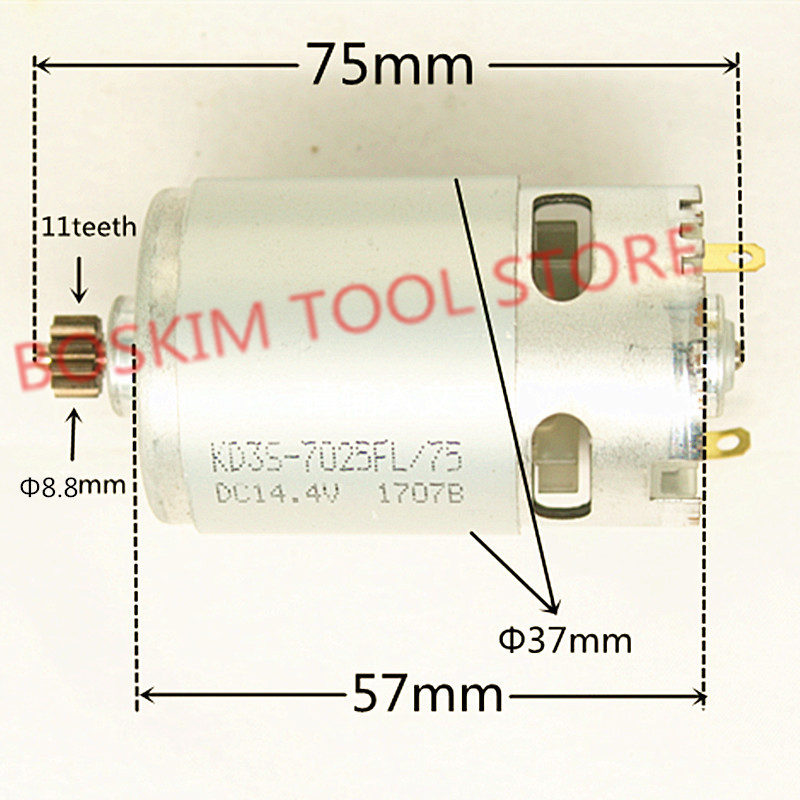 11 Teeth Motor RS-550 14.4V Replacement for BOSCH GSR14.4-2-LI 2 GSR18-2-LI 18V Electric Drill11 Teeth Motor RS-550 14.4V Replacement for BOSCH GSR14.4-2-LI 2 GSR18-2-LI 18V Electric Drill