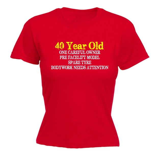 40 Year Old One Careful Owner Womens T Shirt Tee 40th Mum Funny Mothers Day
