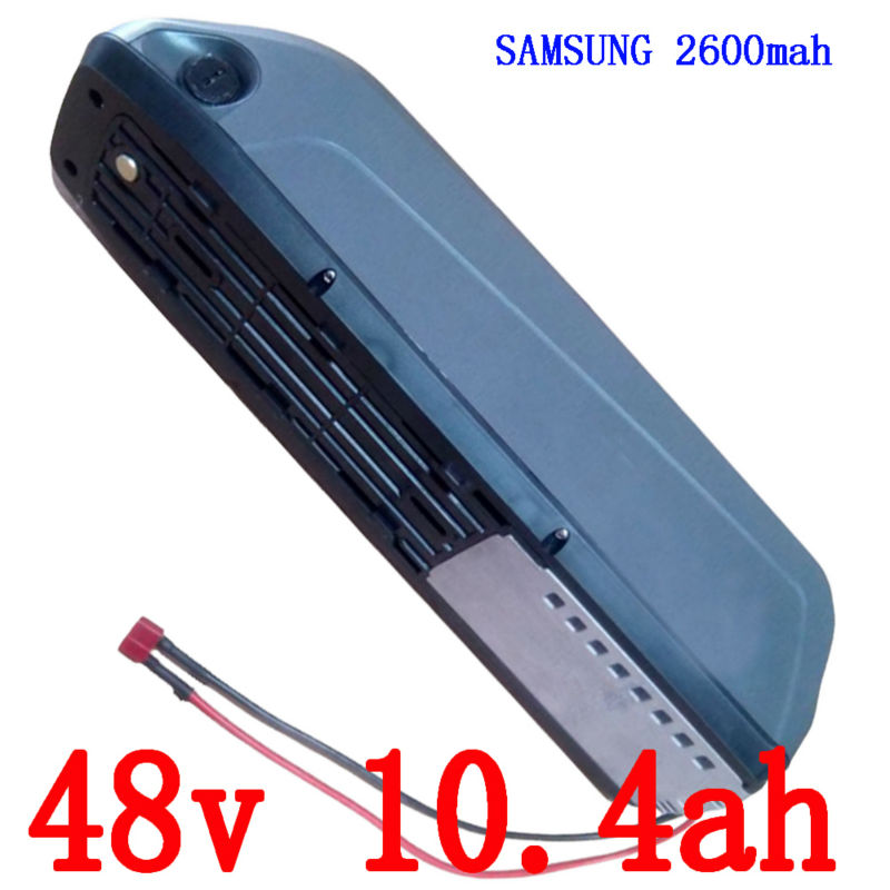 US EU No Tax 48V 500W use for Samsung cell Electric Bike battery 48V 10.4AH frame lithium battery 15A BMS and 54.6v 2A charger us eu free tax samsung cell 48v 750w electric bike battery 48v 15ah lithium battery 8fun bbs02 e bike battery with charger bms