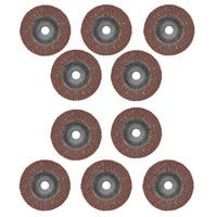 10PCS Flap Disc Sanding Grinding Angle Wheel Grinder Abrasive 80 Grit 100mm X 16mm