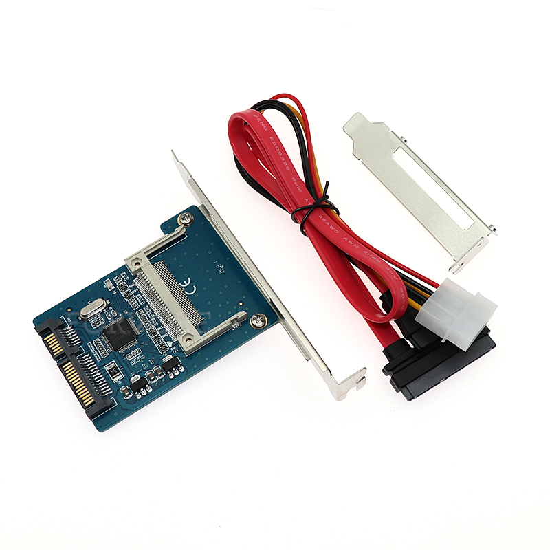 """1.8"""" Cf To Sata 22pin Converter Compact Flash Merory Card To 2.5 Sata Serial Ata 7+15pin Adapter For Embedded Industrial Pc"""