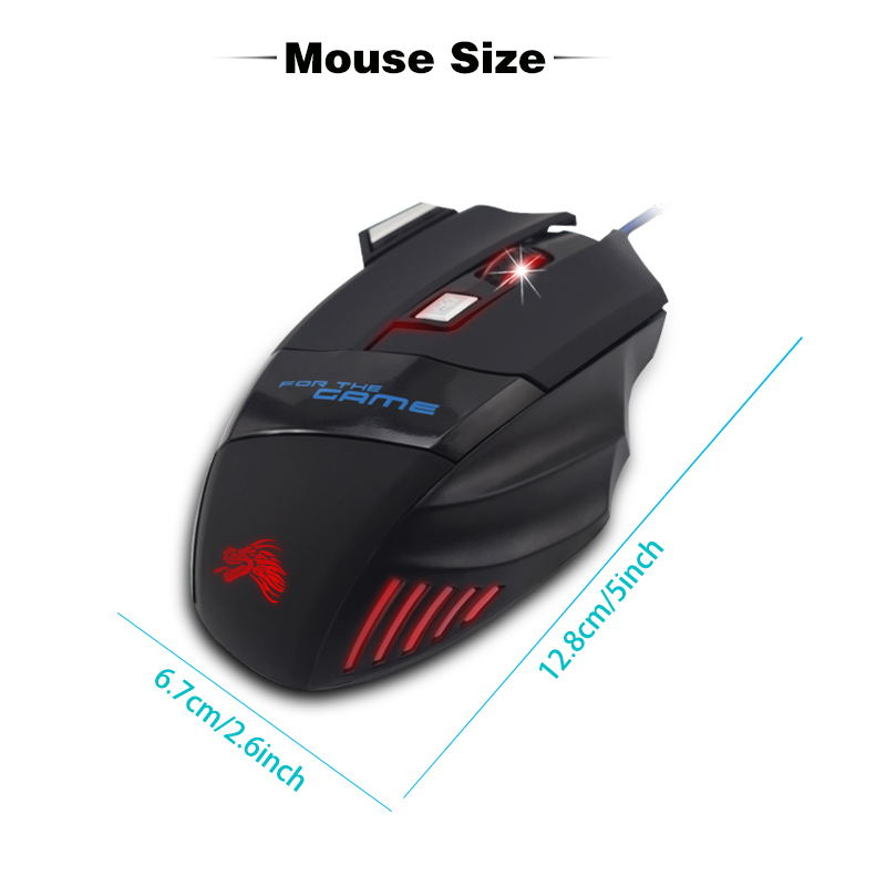 Image 5 - Wire Mouse 7 Buttons 5500 DPI Gaming Mouse Computer Gamer Mice for PC Laptop Notebook Game Gamer-in Mice from Computer & Office