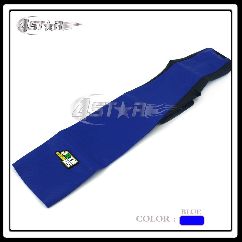 Blue And Black Rubber Motorcycle Gripper Soft-Grip Seat Cover Moto Part For TTR250 2000-2012 01 02 03 04 05 06 07 08 09 10 11