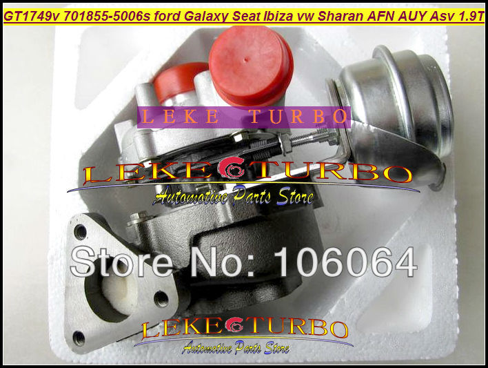 GT1749V 701855-5006S 028145702S Turbo Turbocharger For Ford Galaxy For Seat Alhambra Ibiza VW Sharan AFN/AUY/ASV/AVG 1.9L TDI