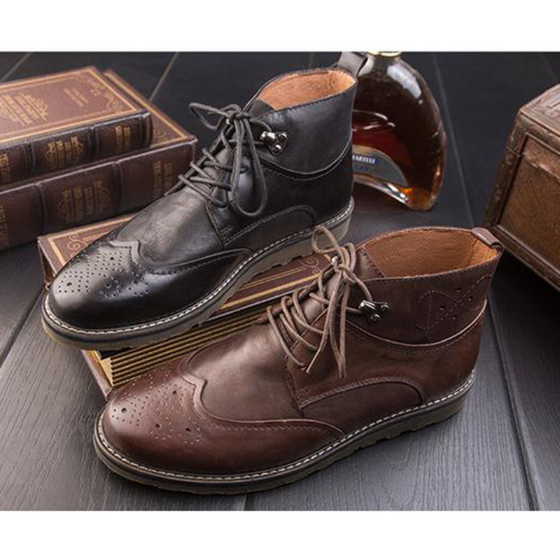 Autumn and winter male retro England men leather boots trend casual Martin boots SYQ-6