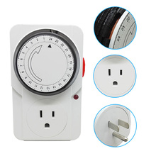 125V 15A Socket With Timer US ETL Approved Energy Saver Electric Plug Outlet Kitchen Smart Mechanical 24 Hours Switch