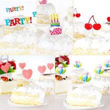 100 Pcs Birthday Cake Decorations Wedding Party Creative Accessories Baking Pastry Card Supplies Free Shipping