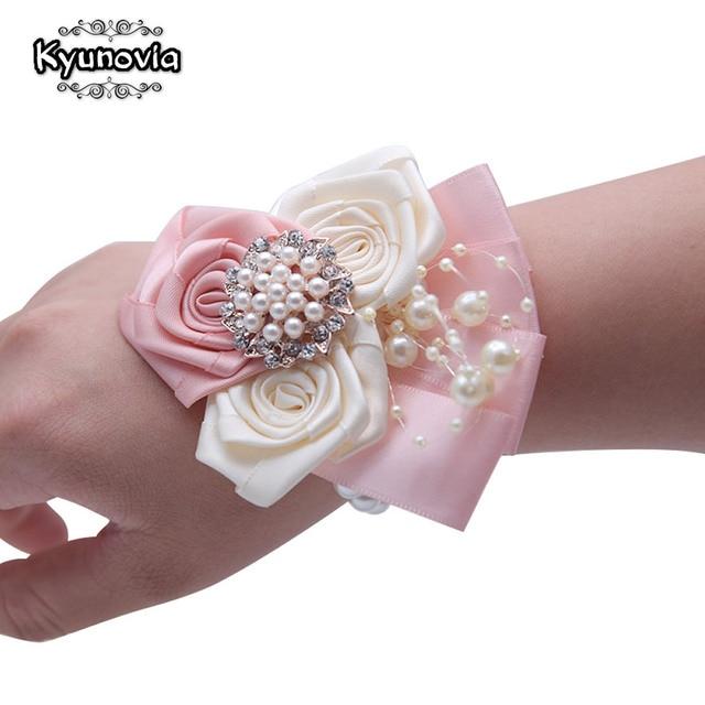 Kyunovia Artificial Silk Flowers Groomsmen Best Men Wedding
