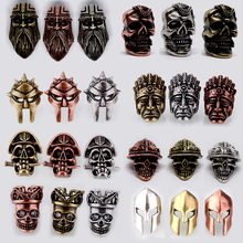 rope mask Pendant beads helmet Beads Metal Antique steel Gold or Bronze Charms For Paracord Bracelet beads for jewelry making