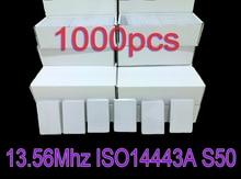 1000 قطعة/الوحدة البطاقة الذكية 13.56 ميجا هرتز ISO14443A بطاقة 1K Nfc بطاقات إعادة الكتابة للتحكم في الوصول والحضور