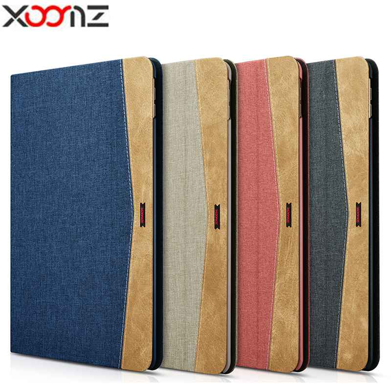 "Xoomz For iPad Pro 10.5 Case Simple Fabric Material Denim Folio Cover for Apple New iPad Pro 10.5"" 2017 Patchwork Case Cover"