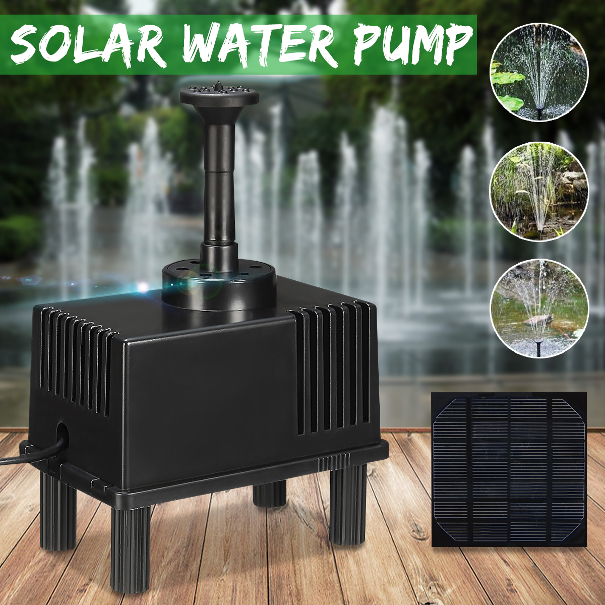 180L/h Mini Solar Powered Water Pump Solar Power Fountain Water Pump Panel Kit Pool Garden Landscape Pond Submersible Watering solar powered mini water pump fountain pool garden watering black page 6