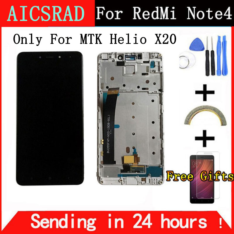 For Xiaomi Redmi Note 4 LCD Display and Touch Screen With Frame 5.5 Inch Tested For Xiaomi Redmi Note 4+Tools for MTK Helio X20