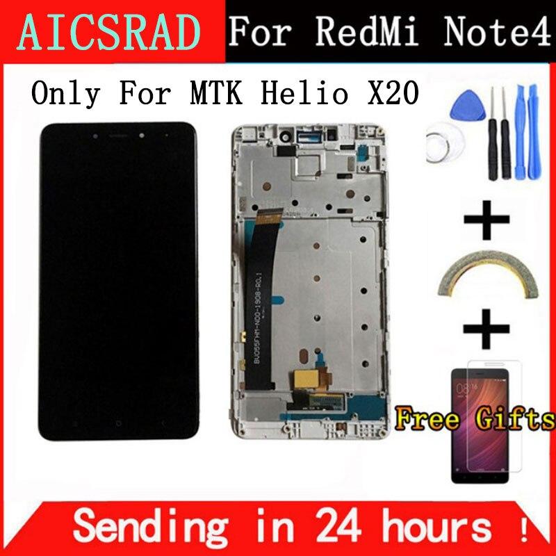 Per Xiaomi Redmi Nota 4 Display LCD e Touch Screen Con Telaio 5.5 di pollice Testato Per Xiaomi Redmi Nota 4 + strumenti per MTK Helio X20