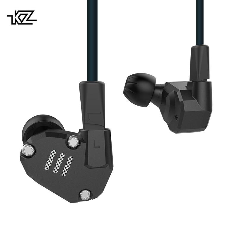 KZ ZS6 2DD 2BA HIFI Bass Headset Sport In ear Earphone Dynamic Driver Noise Cancelling Headset