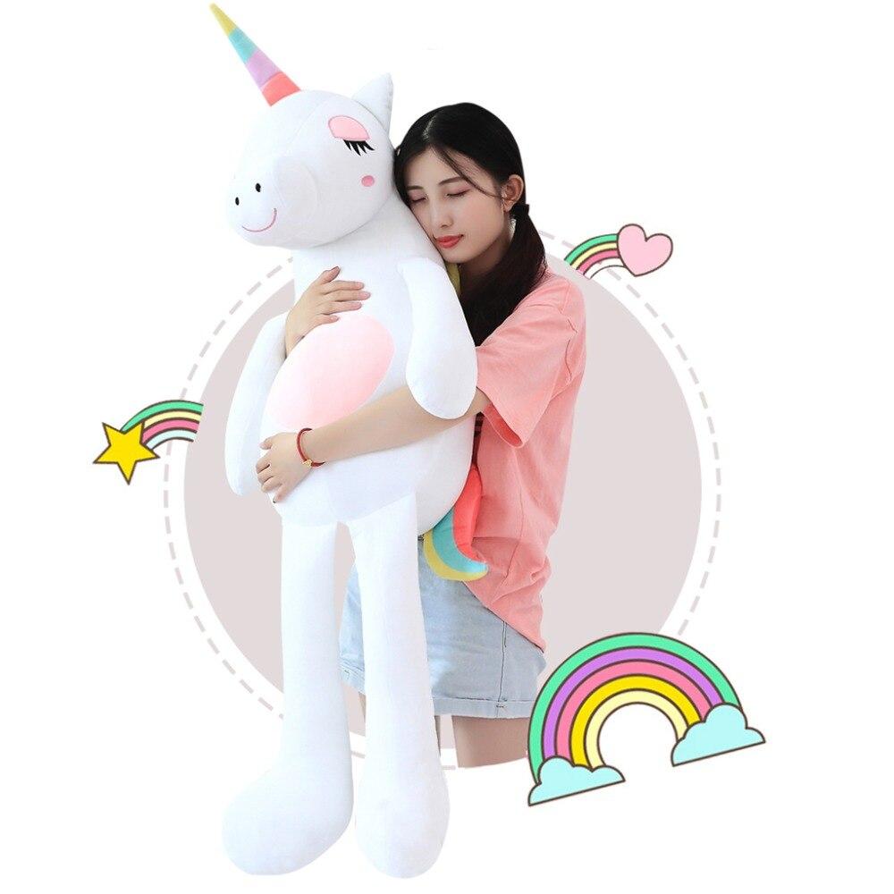 394998aee7 1pc Ins Large Soft Unicorn Plush Toy Stuffed Animal Toy Girl doll  Children s Toy Sofa Pillow