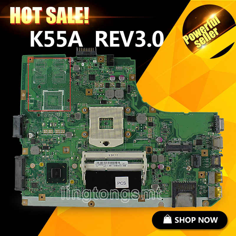 Original for ASUS K55A Motherboard K55VD Rev 3.0 MainboardHD Graphics 4000  HM76 Chipset 100% Tested for asus motherboard r510cc x550cc rev2 0 2117u processor gt720m ddr3 1600 mhz hm76 chipset 100