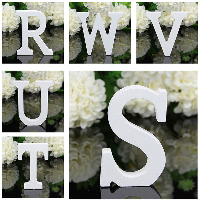 Wedding Decration Creative A Z Wooden Wood Letters Alphabet Word Free Standing Party Home Decor