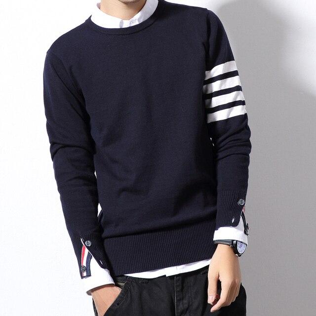 1d8cd0d906c Autumn Winter Christmas Sweater Men Pullover Fashion Mens Jumper Plus Size  Mens Sweaters Crewneck M-6XL