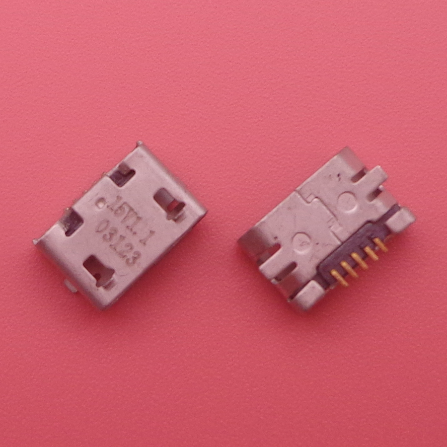 10pcs Micro usb jack charger socket Connector for <font><b>Nokia</b></font> 207 208 <font><b>220</b></font> Dual SIM 230 Asha 500 Asha 503 Asha 710 Lumia Cell Phones image