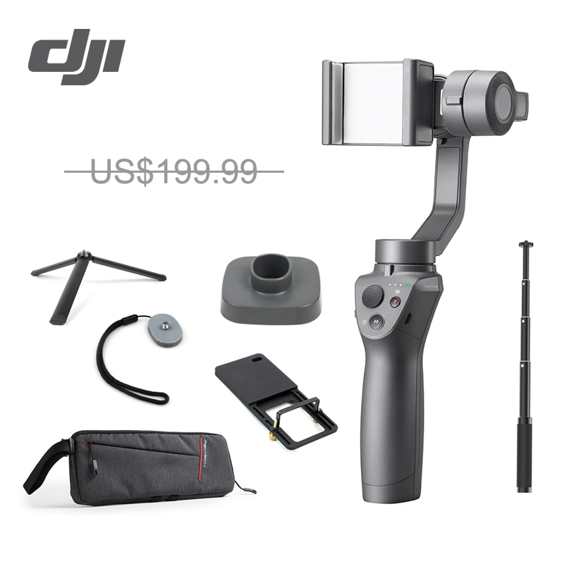 DJI Osmo Mobile 2 3 Axis Handheld Stabilizer for iPhone XS Huawei P20 Mi6 Redmi 5
