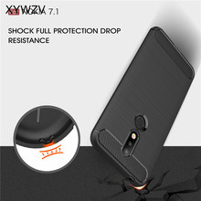 For Capa Nokia 7.1 2018 Case Shockproof Armor Rubber Phone Back Cover Shell Fundas
