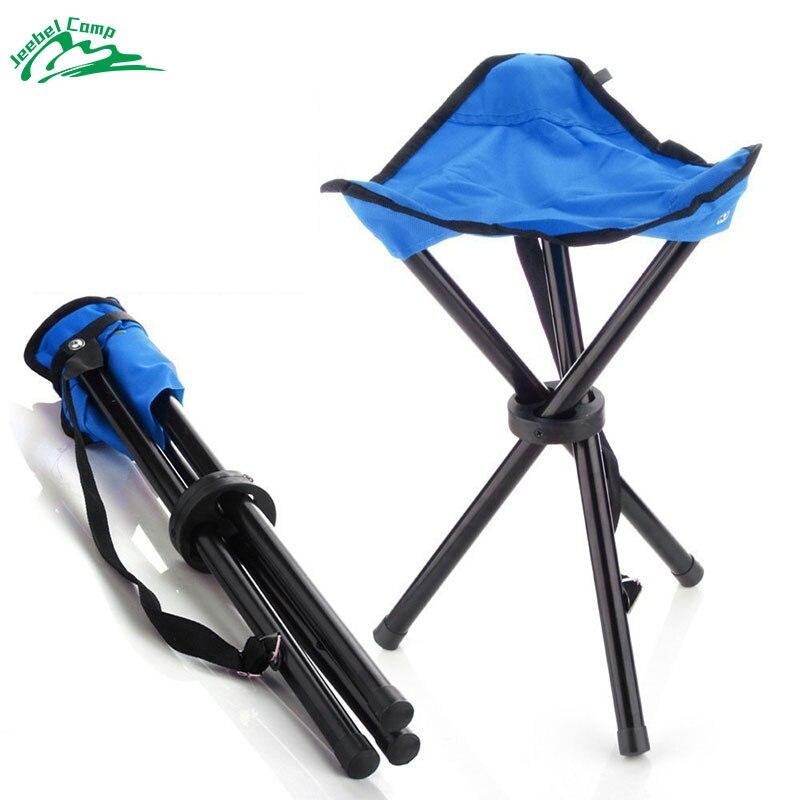 Jeebel Portable Folding Chair Camping Foldable Stool Tripod Seat For Fishing Picnic Beach Seat Ultralight Outdoor Camp 2016 portable folding chair military camp stool