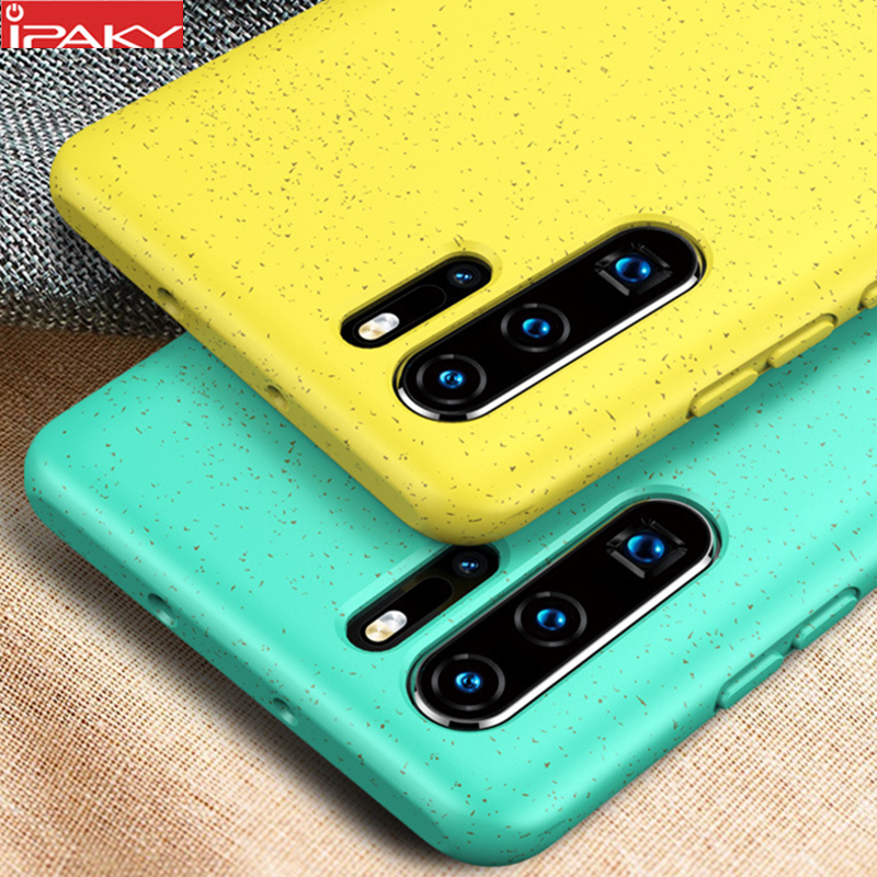 for Huawei P30 Case IPAKY Luxury Liquid Silicone Soft Case P30 Lite Shell Gel Shockproof Case Cover for Huawei P30 Pro Case(China)