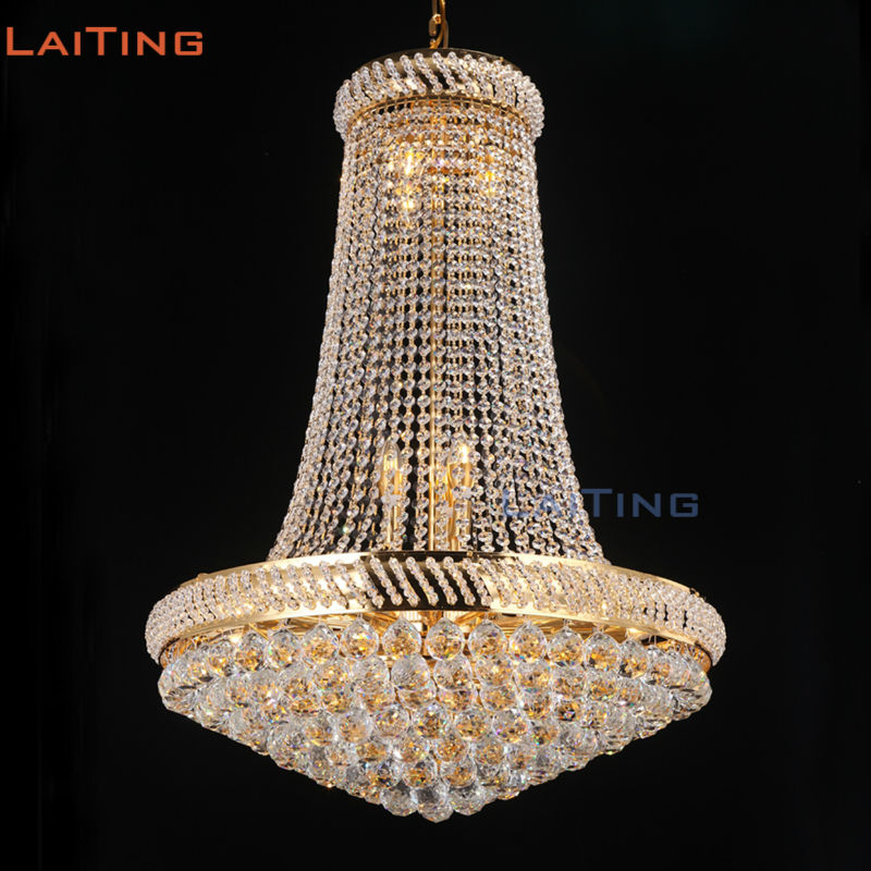Laiting dia 90cm lustre cristal vintage style chandeliers gold foyer laiting dia 90cm lustre cristal vintage style chandeliers gold foyer chandelier k9 crystal for home deco lt 17899 in chandeliers from lights lighting on mozeypictures Image collections