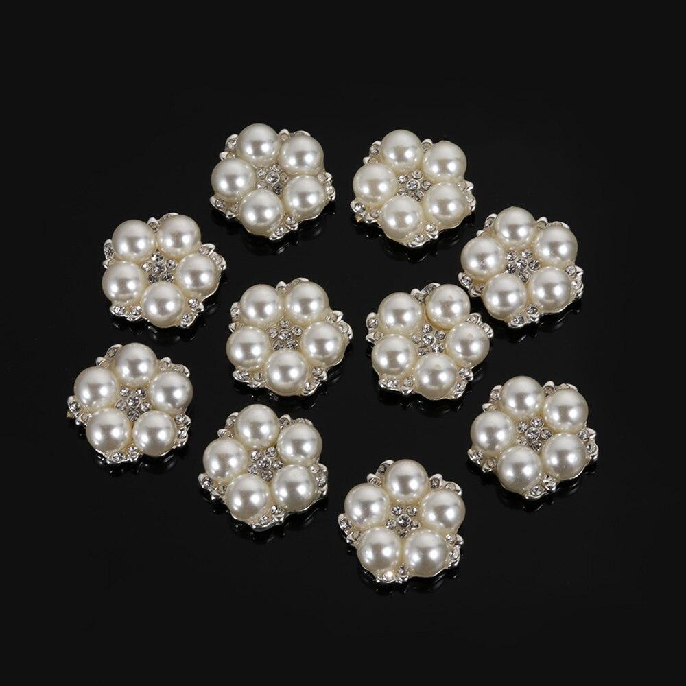 HTB1H.RpWbPpK1RjSZFFq6y5PpXaU 10pcs/Set DIY Flower Rhinestones Buttons Pearl button Alloy Diamante crystal Bow wedding decoration Sewing Decor Accessories