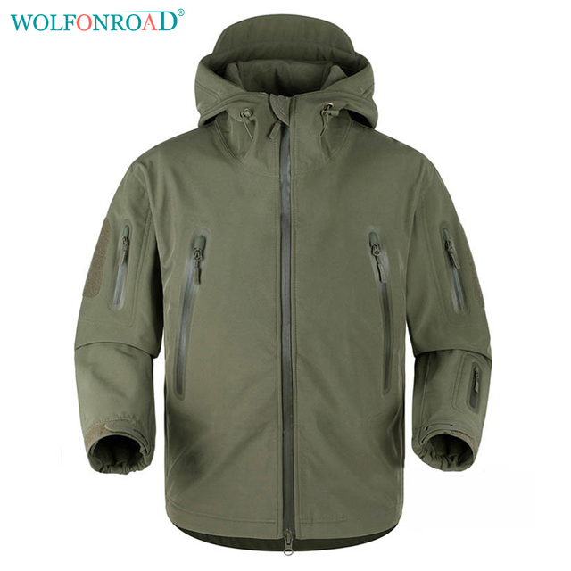 WOLFONROAD Hombres Softshell Chaqueta Impermeable Chaqueta