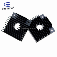 5 Pieces/lot 40x40x11mm Black Anodized Cooler Fins Heatsink For 3D Printer MK7/MK8