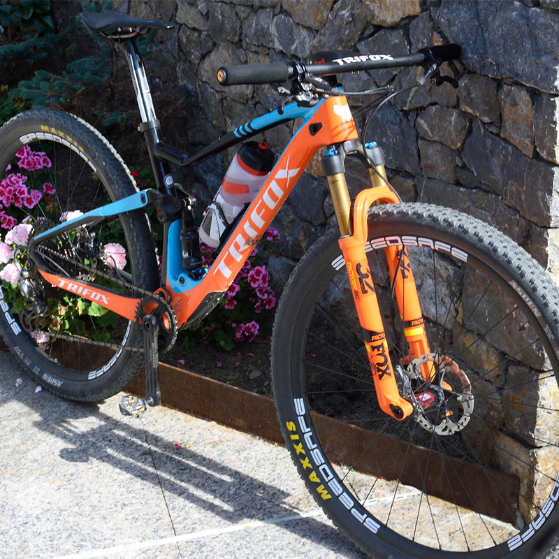TRIFOX Frame MTB Mountain-Bike-Frame Cadre Carbone Full-Suspension T800 29er Marco-De-Bicicleta