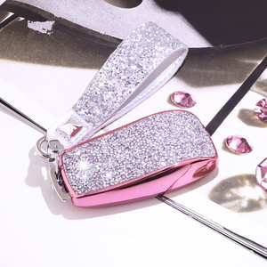 Image 4 - Artificial Crystal key case cover Key case protective shell holder for Mercedes Benz 2017 E Class W213 2018 S class Plastic Gift