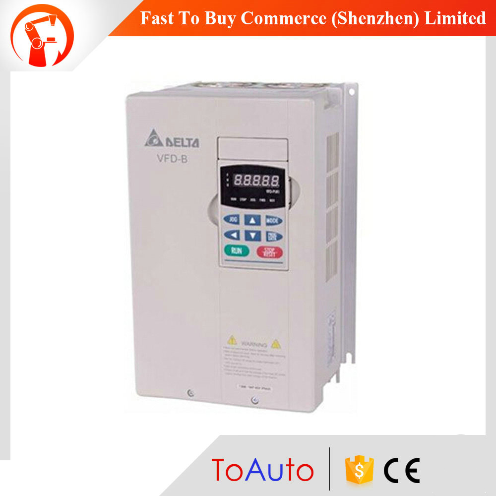3 Phase 30HP 220V 22kW Delta AC Motor Drive VFD Variable-frequency Drive Inverter Frequency Converter VFD220B23A 0.1~400Hz New three phase general frequency converter 2 2kw 380v three phase motor warranty 18 delta