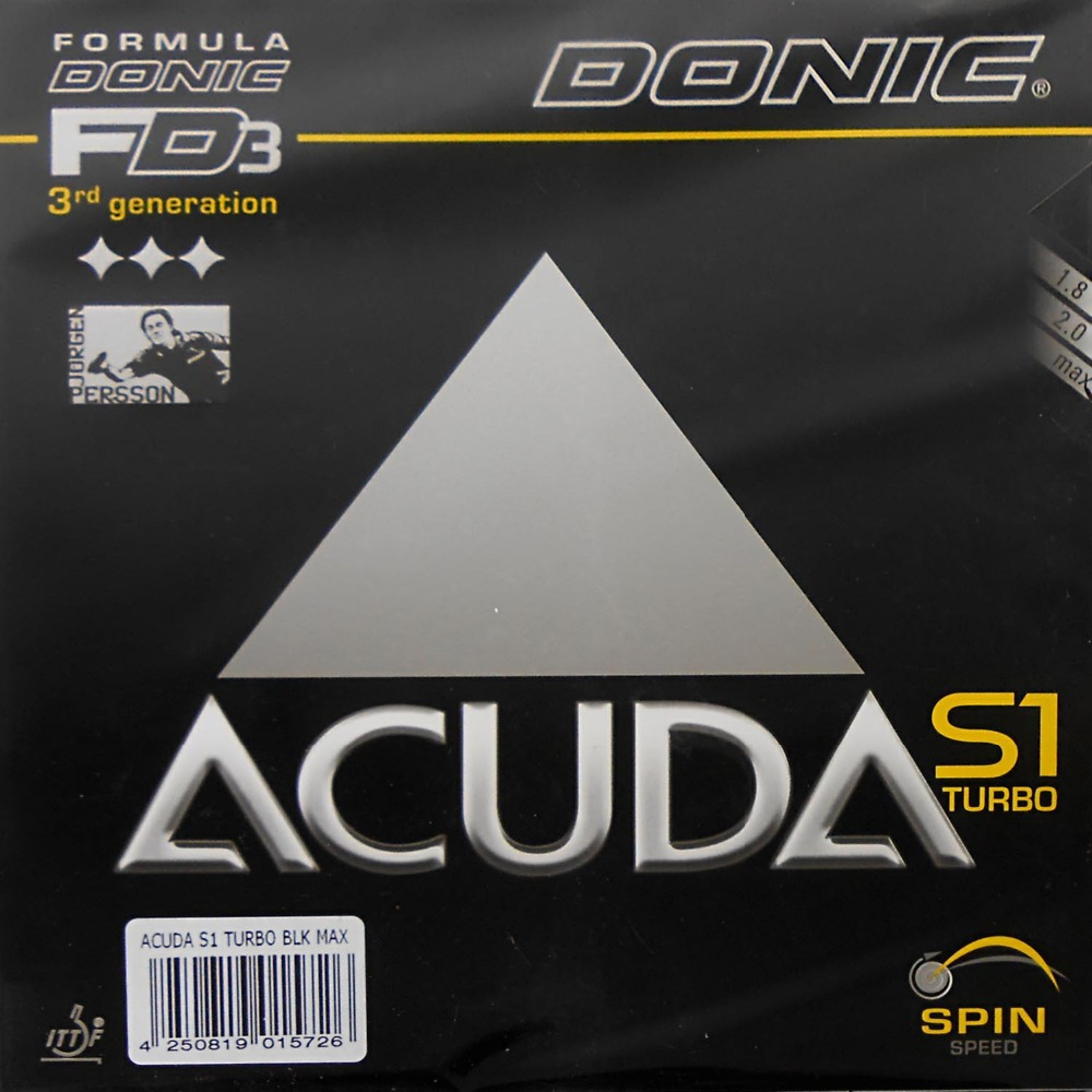 Donic ACUDA S1 (S 1, S-1) 12090# TURBO pips-in table tennis / pingpong rubber with sponge donic acuda s1 s 1 s 1 12090 turbo pips in table tennis pingpong rubber with sponge