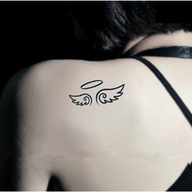 Angel Wings Flash Tattoo Hand Sticker 10 5 6cm Small Waterproof