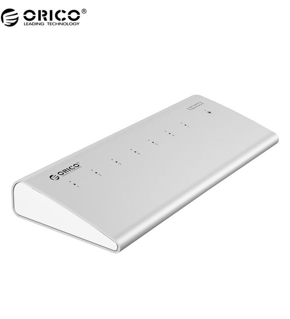 ORICO H73 De Aluminio de Alta Velocidad 7 Puertos USB 3.0 Hub Para Ordenador Portátil-Plata
