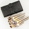 24 шт. макияж кисти установить высокое качество синтетических волос металла деревянная ручка тени для век подводка для глаз кисти для макияжа brush set & комплекты